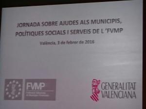 Jornada Província de València sobre Ajudes als Municipis, Polítiques socials i Serveis de l'FVMP