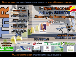 I Open Nacional Patinaje Freestyle  Mareny de Barraquetes