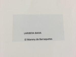 TRANSFERÈNCIES DE DIPUTACIÓ AL MARENY DE BARRAQUETES